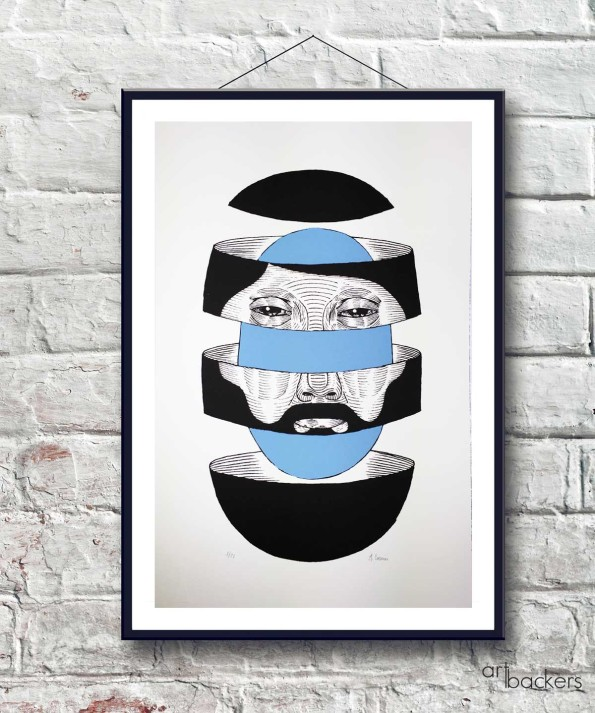 Cosmic Man Series – Bearded Omniscient SKY-Blue