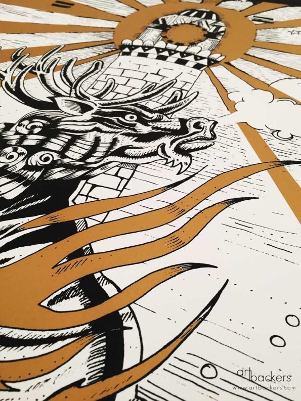 Giorgio Casu Prints gold