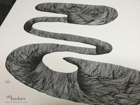 Ciredz Holes Series 2 Art Backers Print