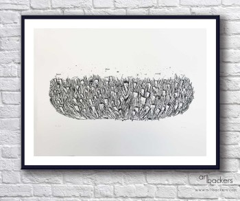 Federico Carta Crisa Art Backers Submarino print