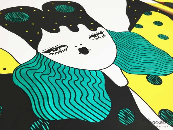 La fille Bertha Retouche Art Backers