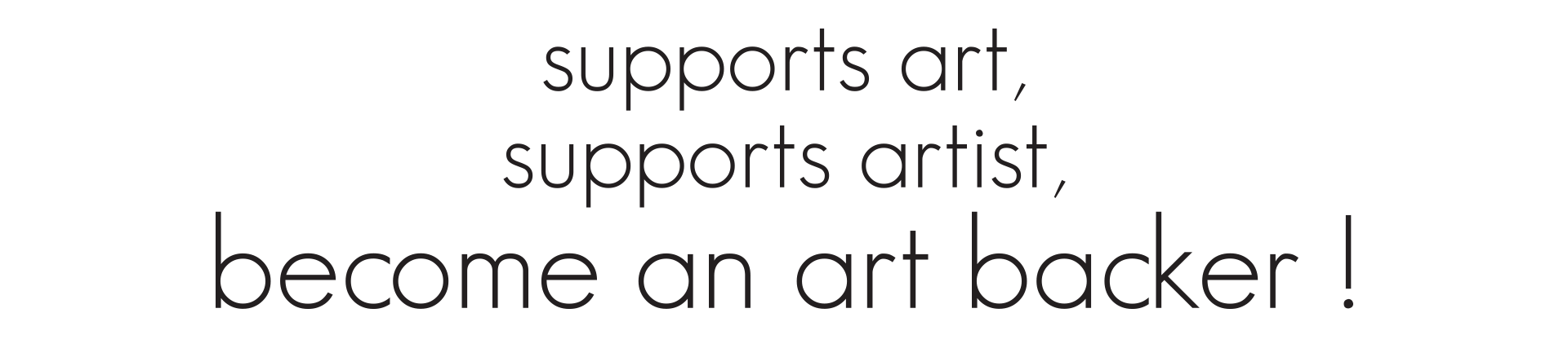 support art support artist become an art backer