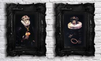 Simone Fugazzotto Curiosity is my only Vanity I & II SET art backers