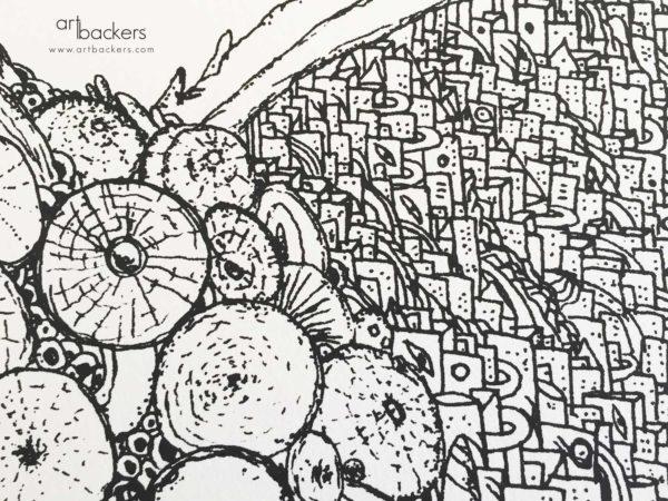 Federico Carta Crisa Art Backers Maresia print