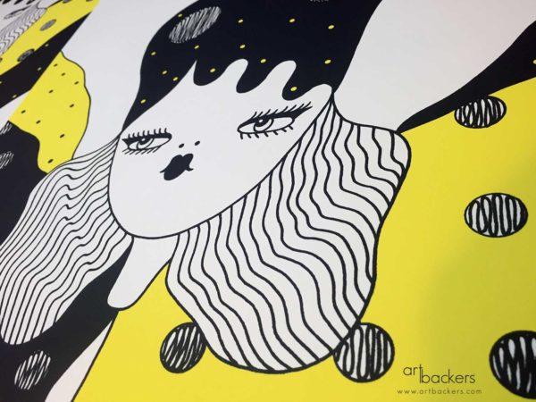 La fille Bertha feeling impossible Art Backers
