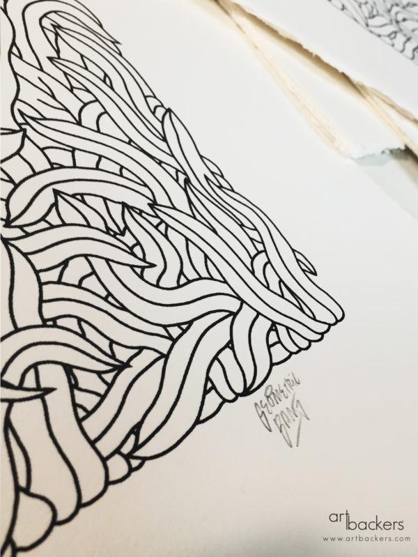 geometric bang nascosto art backers