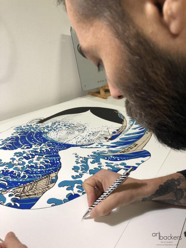 Andrea Casciu - La Grande onda - Art Backers